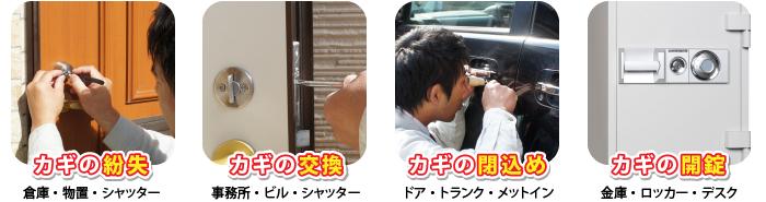 一宮・岐阜・名古屋のカギのトラブル110番